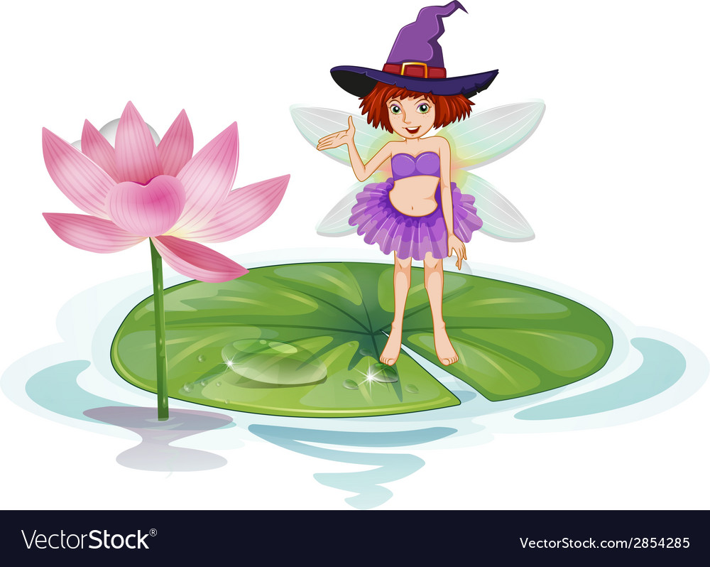 Fairy And Lotus Royalty Free Vector Image Vectorstock