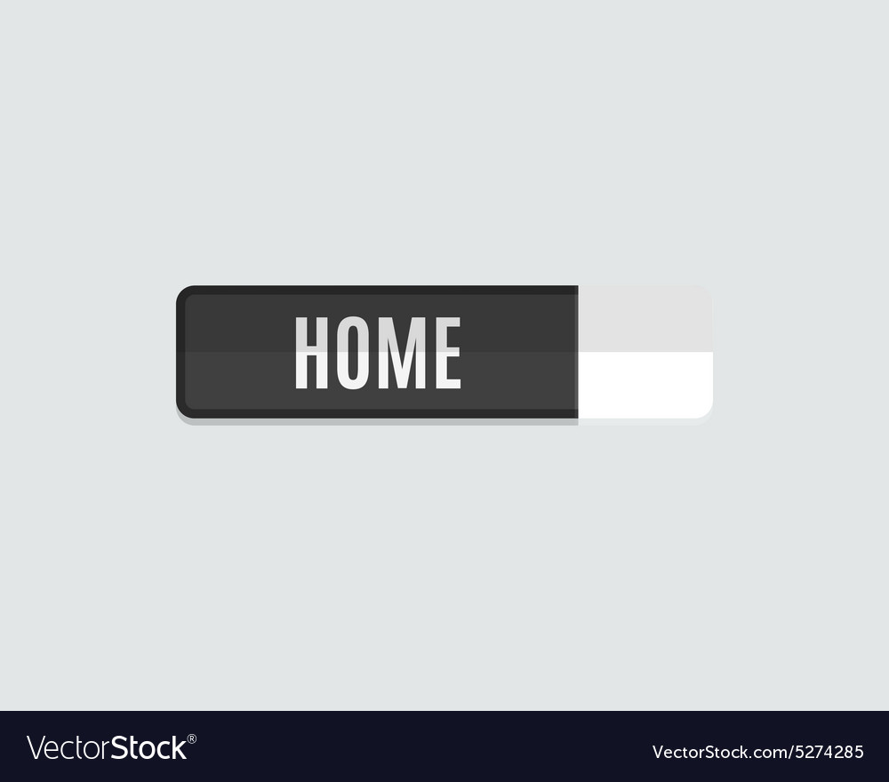 Home web button flat design