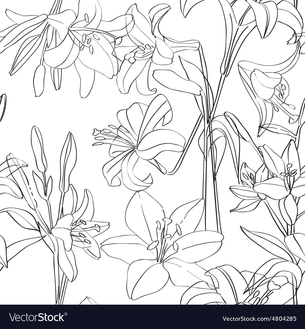 Lilies pattern superposed