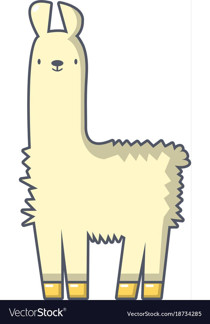 llama icon cartoon style royalty free vector image