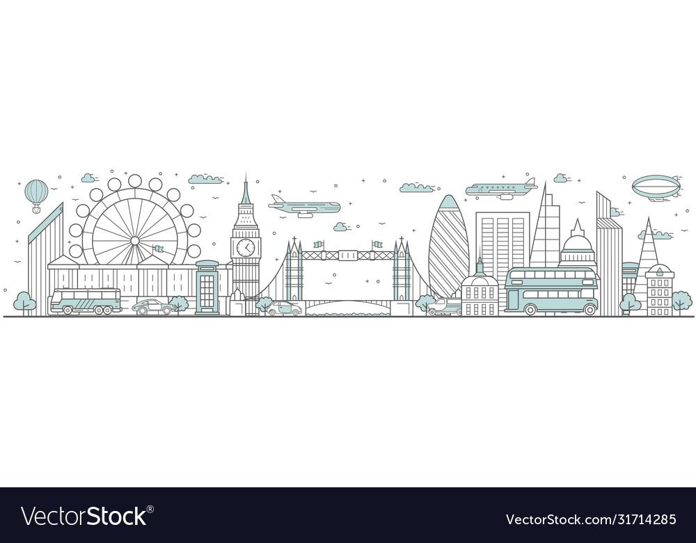 London skyline line cityscape