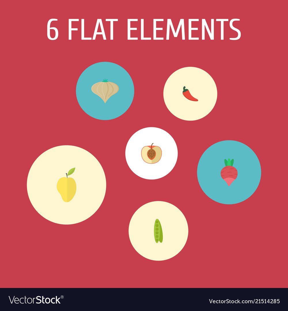 Set of berry icons flat style symbols with