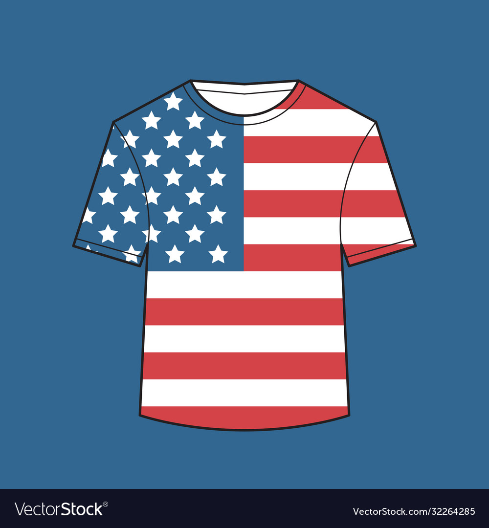 T-shirt with united states flag american