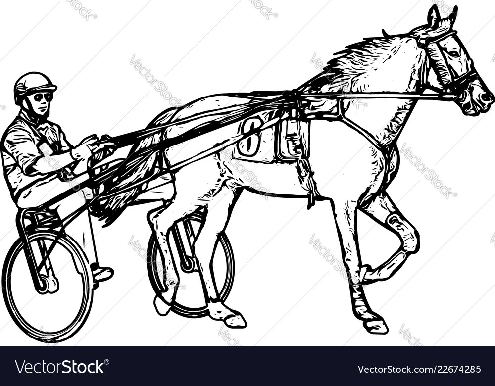 People In The Horse Cart Vector Images 69