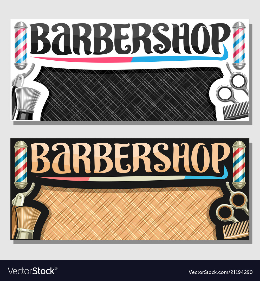 Banners for barbershop