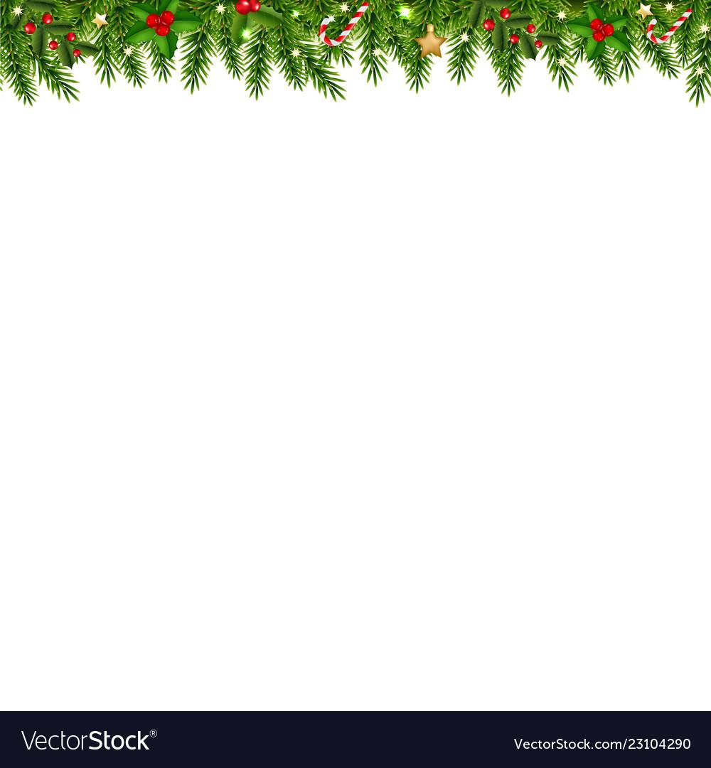 Christmas Garland Transparent White Background