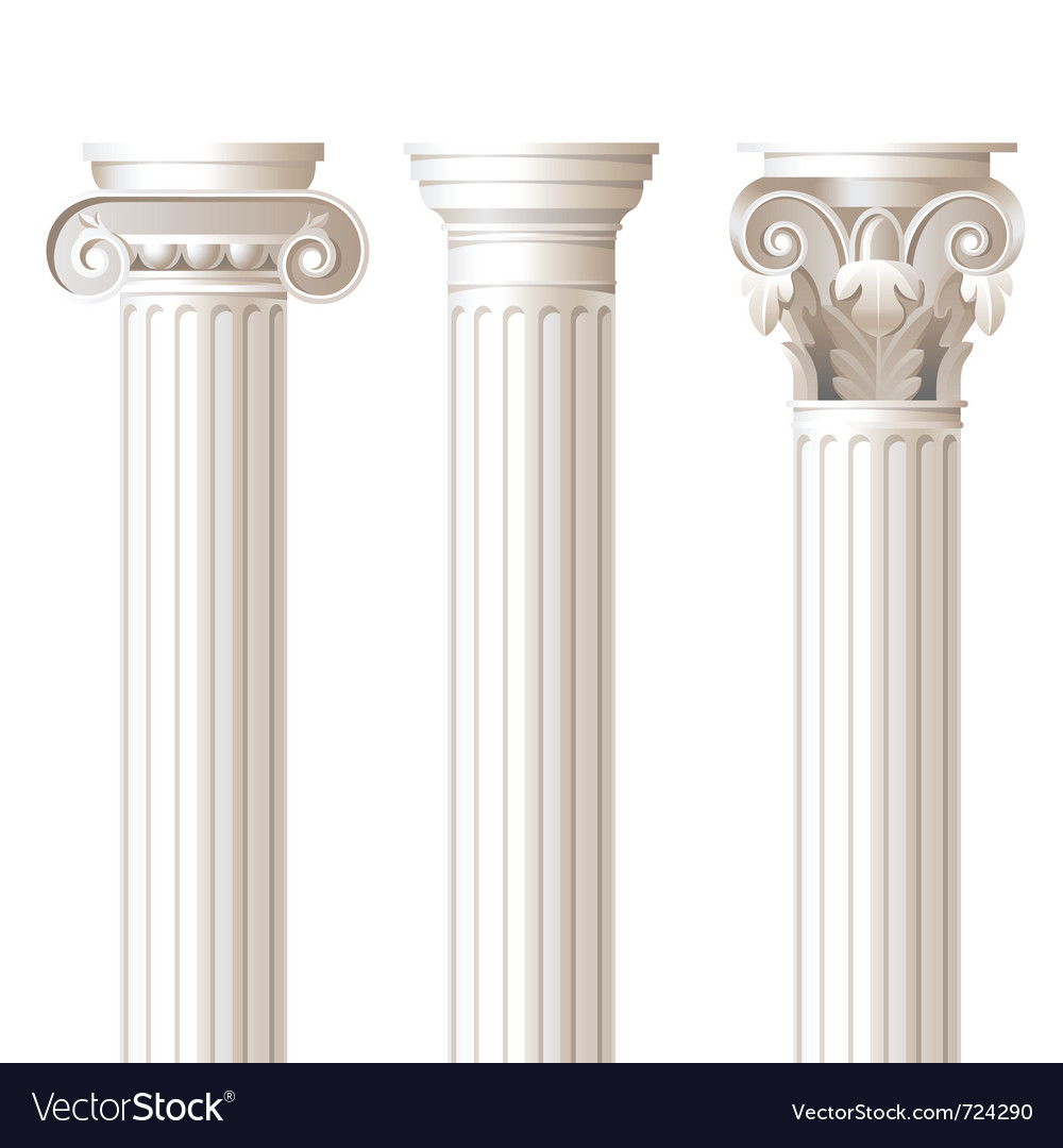 Ionic doric corinthian columns