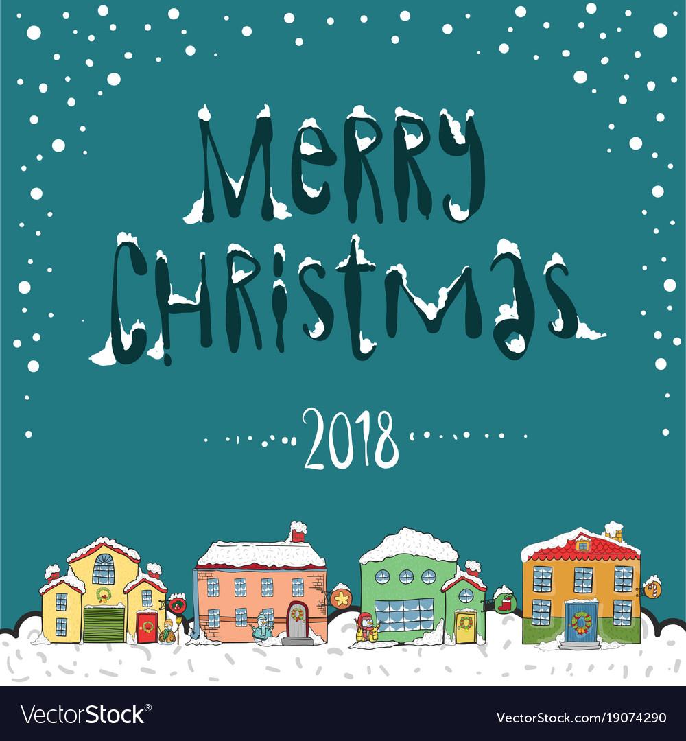 Merry Christmas Poster 2018.Merry Christmas 2018 Card