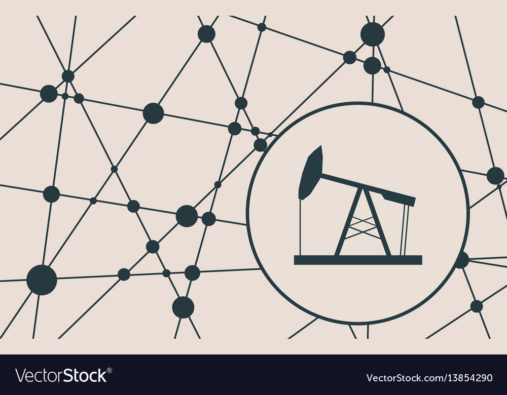Oil pump cut out icon vector image