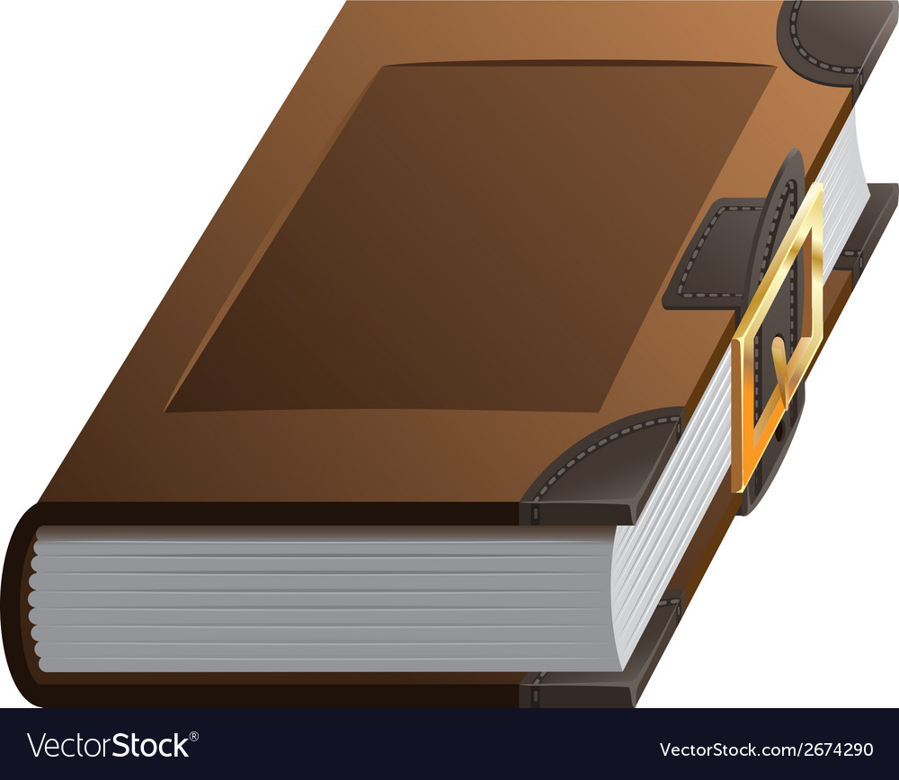 Old thick book with clasp vector image