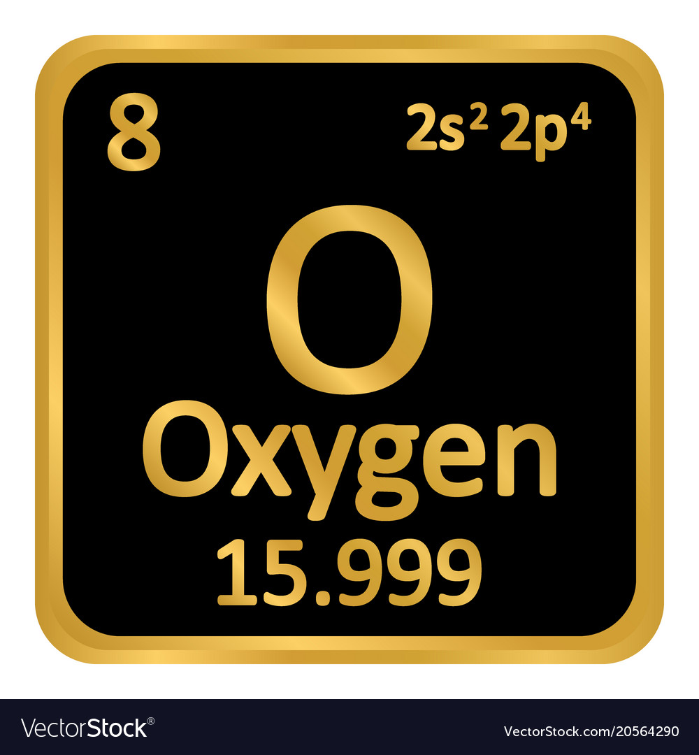 Periodic table element oxygen icon royalty free vector image periodic table element oxygen icon vector image urtaz Images