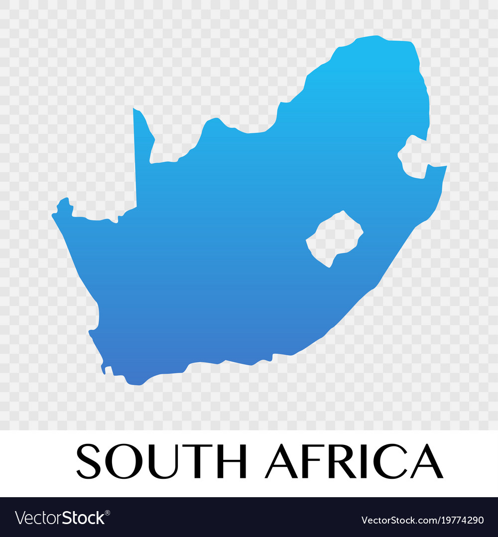 South Africa Continent Map South africa map in africa continent design Vector Image