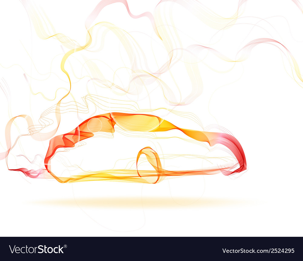 Abstract car color lines vector image