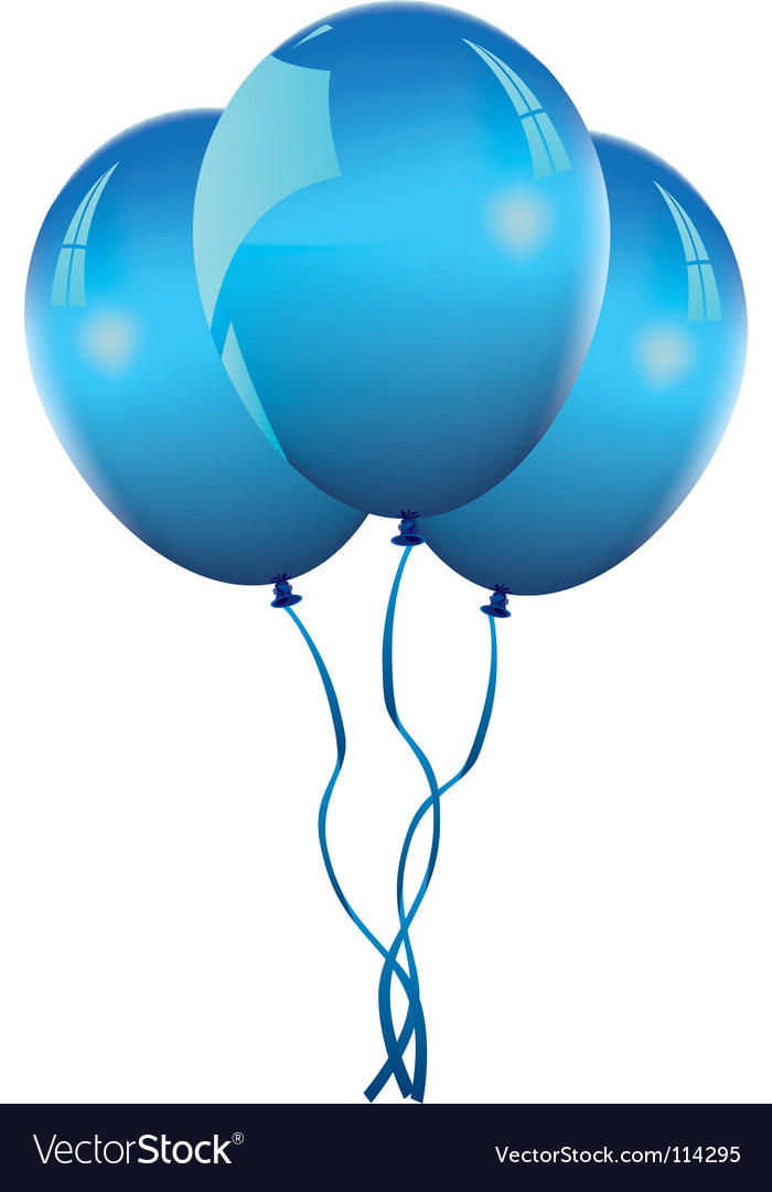 blue balloons royalty free vector image vectorstock