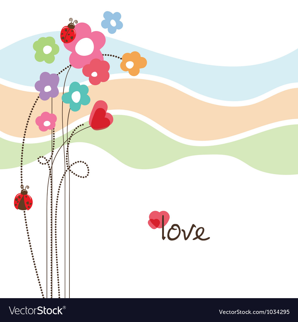Cute floral love card