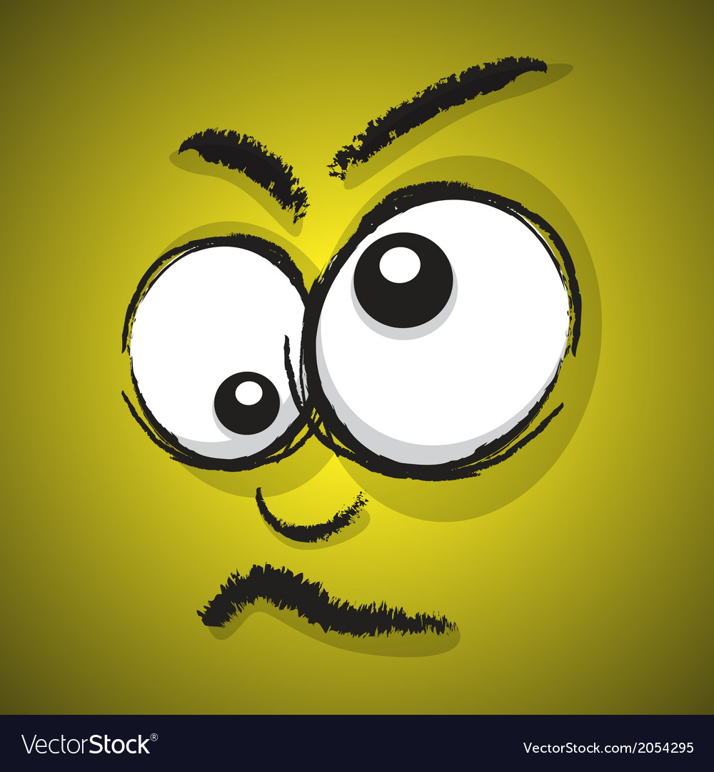 Emotions yellow crazy vector image
