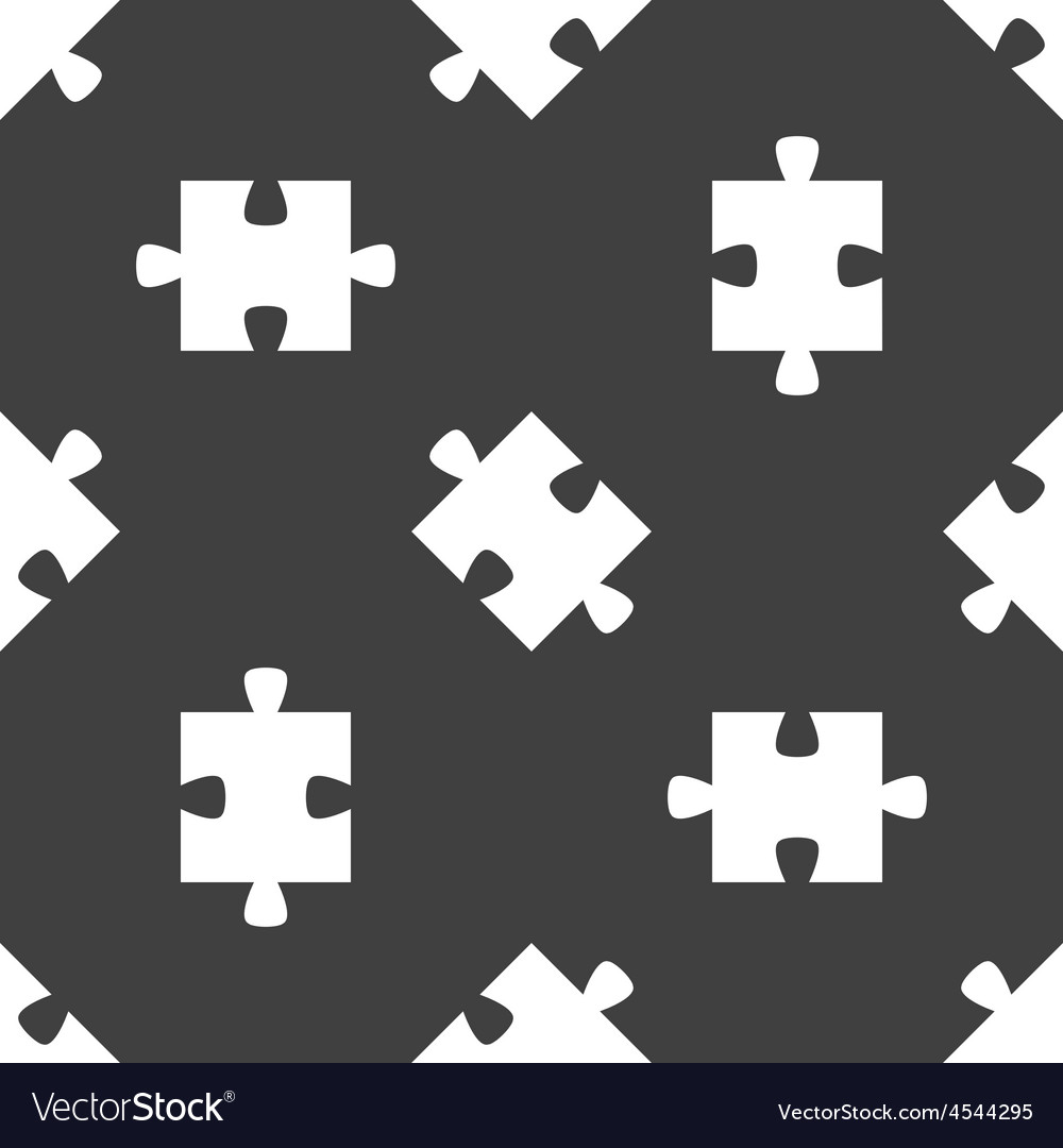 Puzzle piece pattern Royalty Free Vector Image