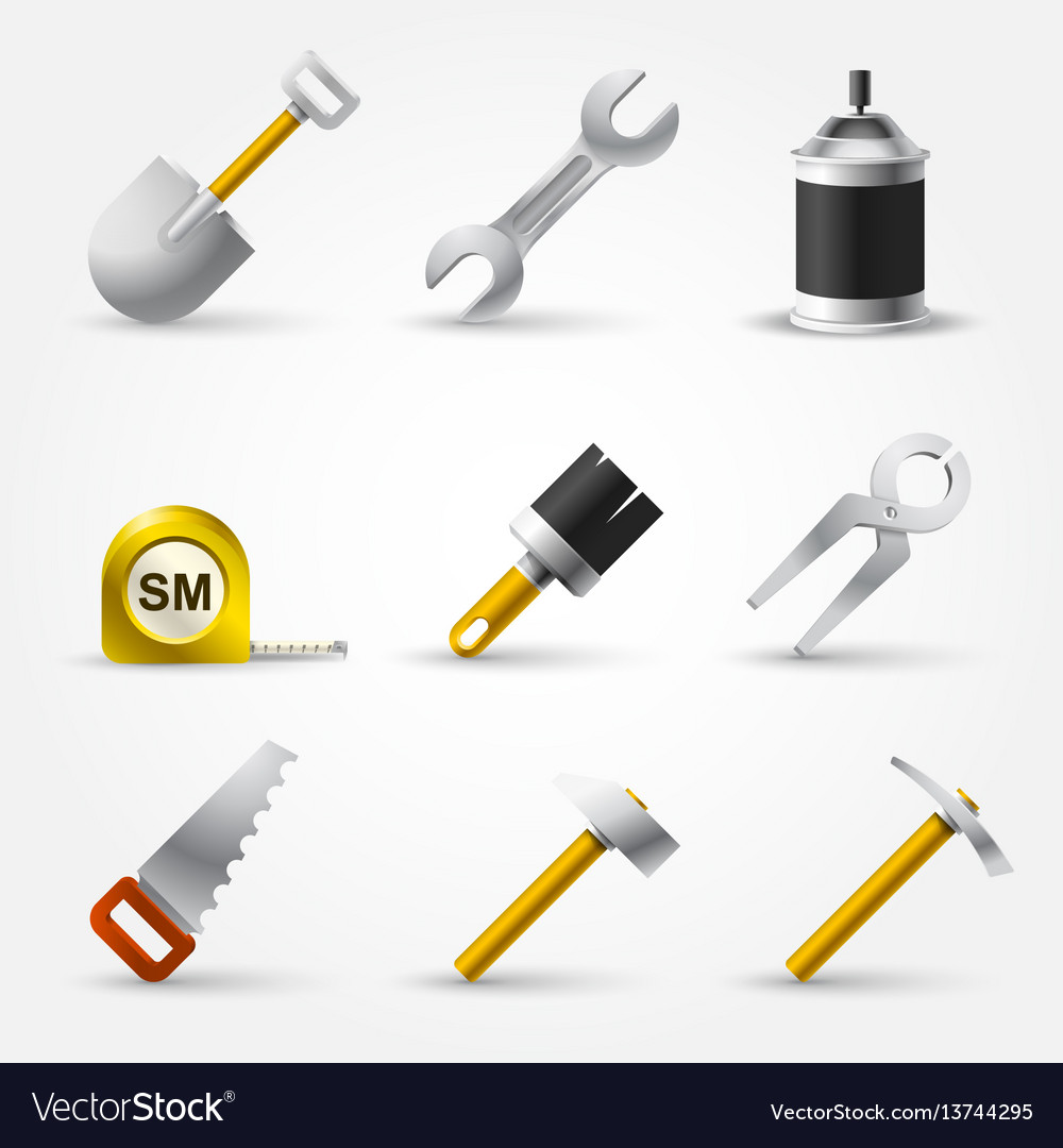 Set builder tool vector image