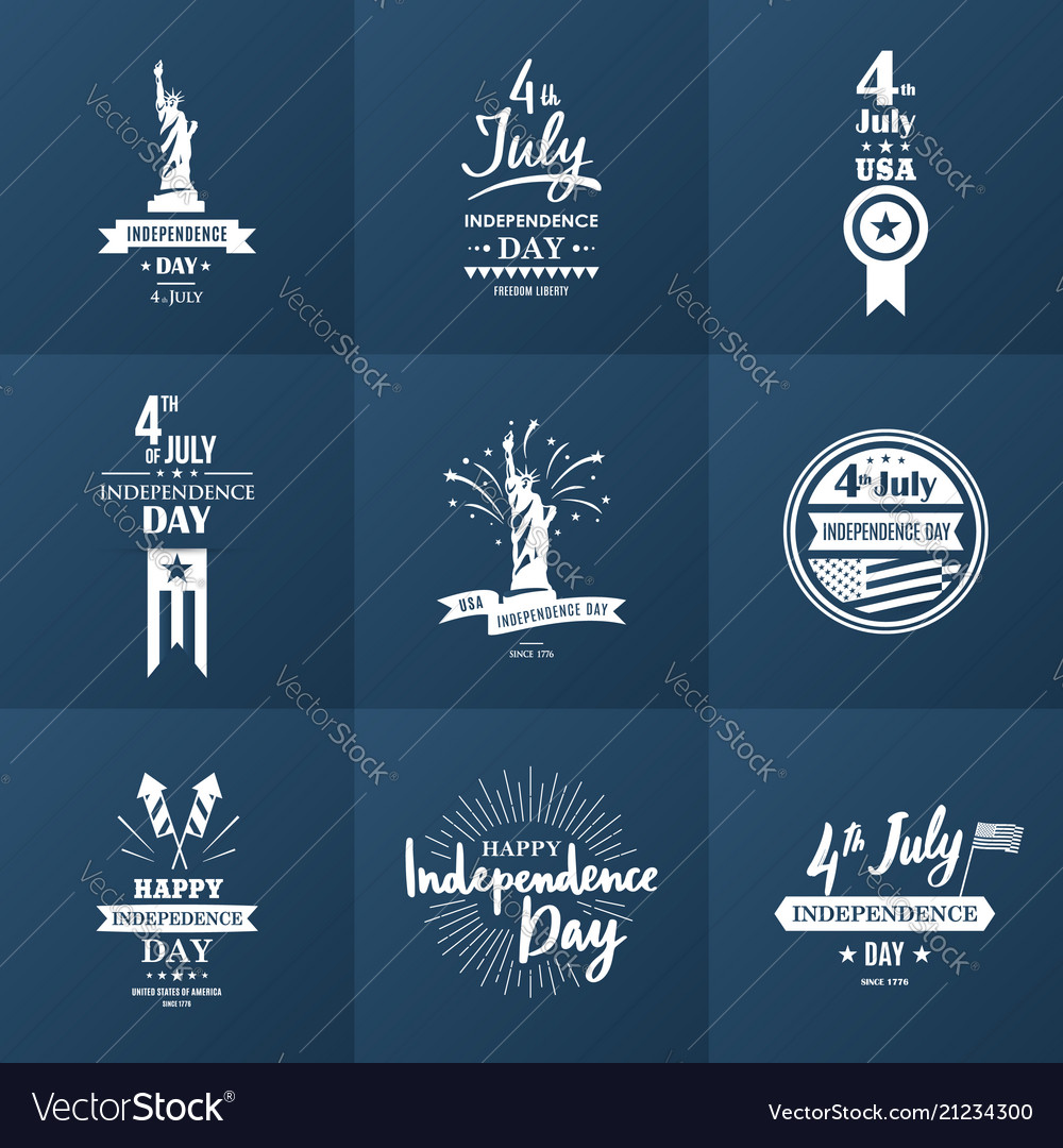 4th of july a set of nine vintage greeting cards