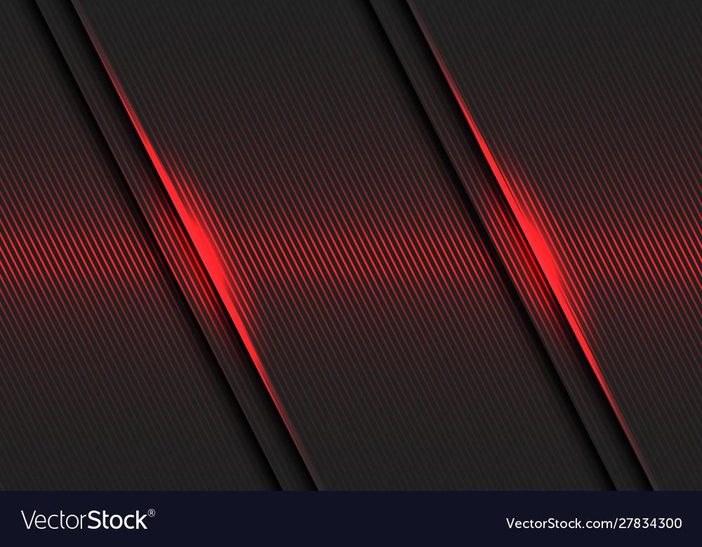 Abstract red lines light pattern slash dark grey