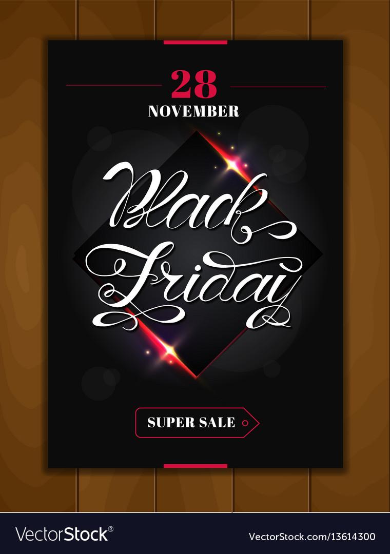 Black friday sale design poster black friday