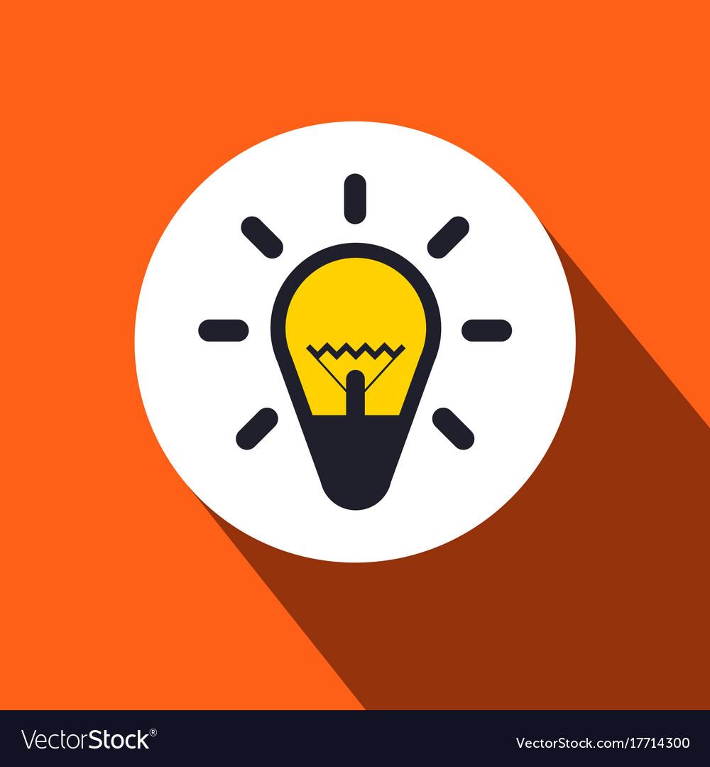 Bulb flat design icon