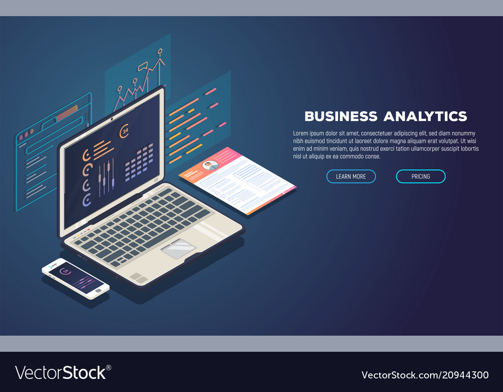 Business analytics and development banner