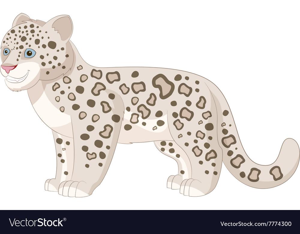 cartoon smiling snow leopard royalty free vector image rh vectorstock com snow leopard cartoon picture baby snow leopard cartoon