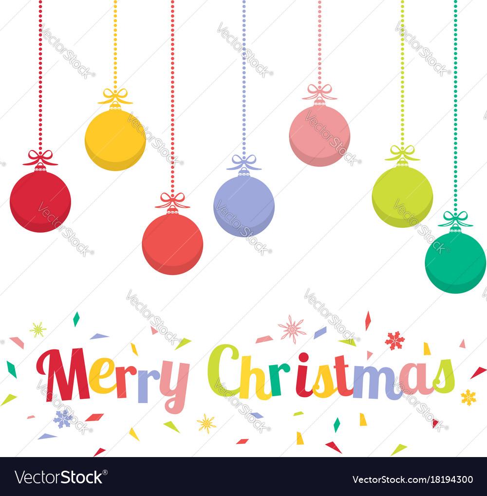 Christmas Ornaments Vector.Colored Christmas Balls Christmas Ornaments