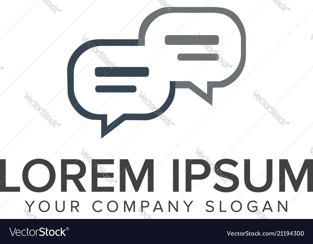 Comment logo design concept template