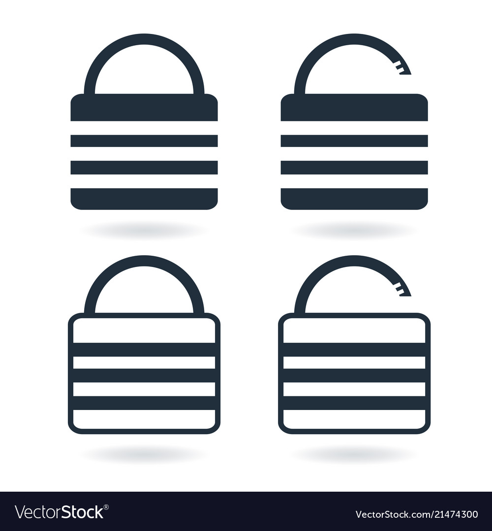 Creative lock icon in trendy flat style isolated