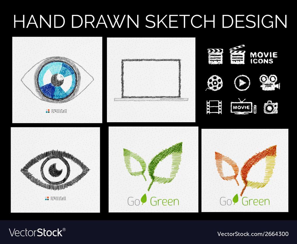 Drawn sketch designs