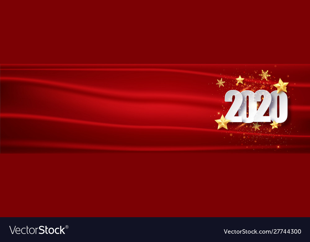 Red year background 2020 greeting