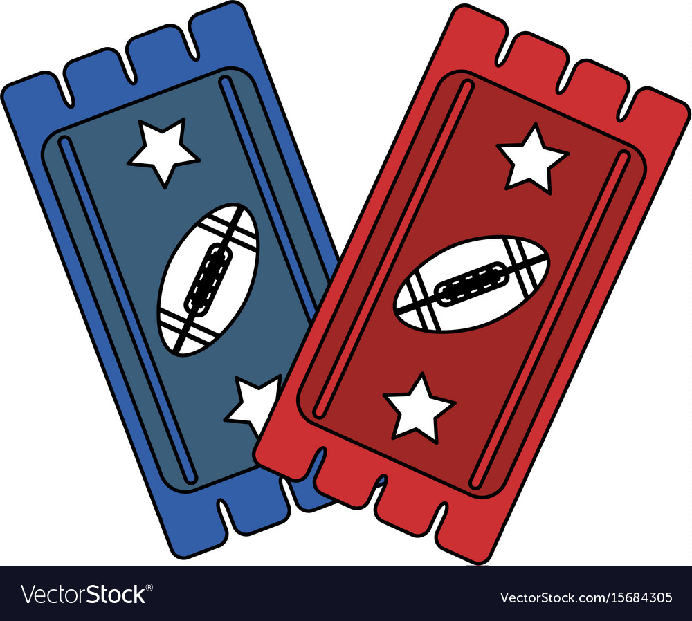 American football tickets design