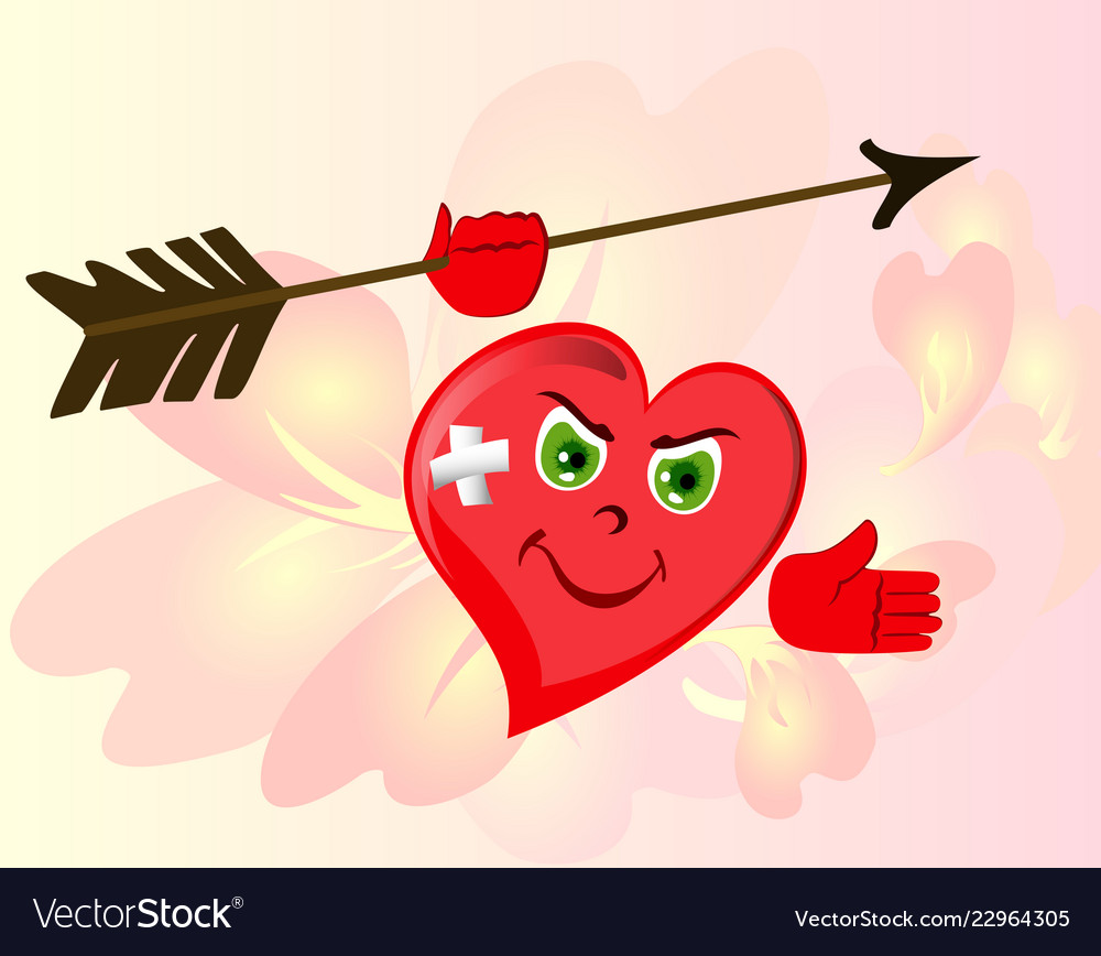 Angry Red Heart To Valentines Day Emoji Eps10 Vector Image