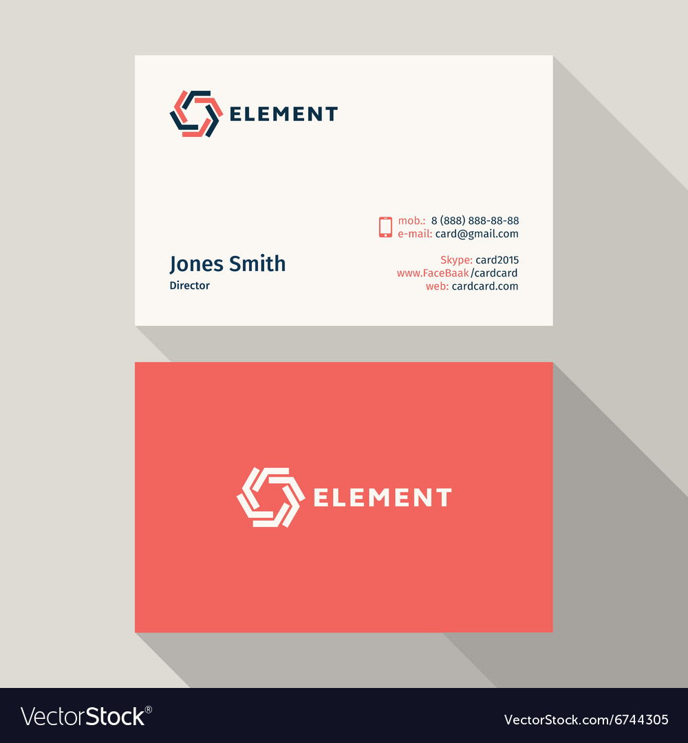 Business Card Qualitative elegant logo and