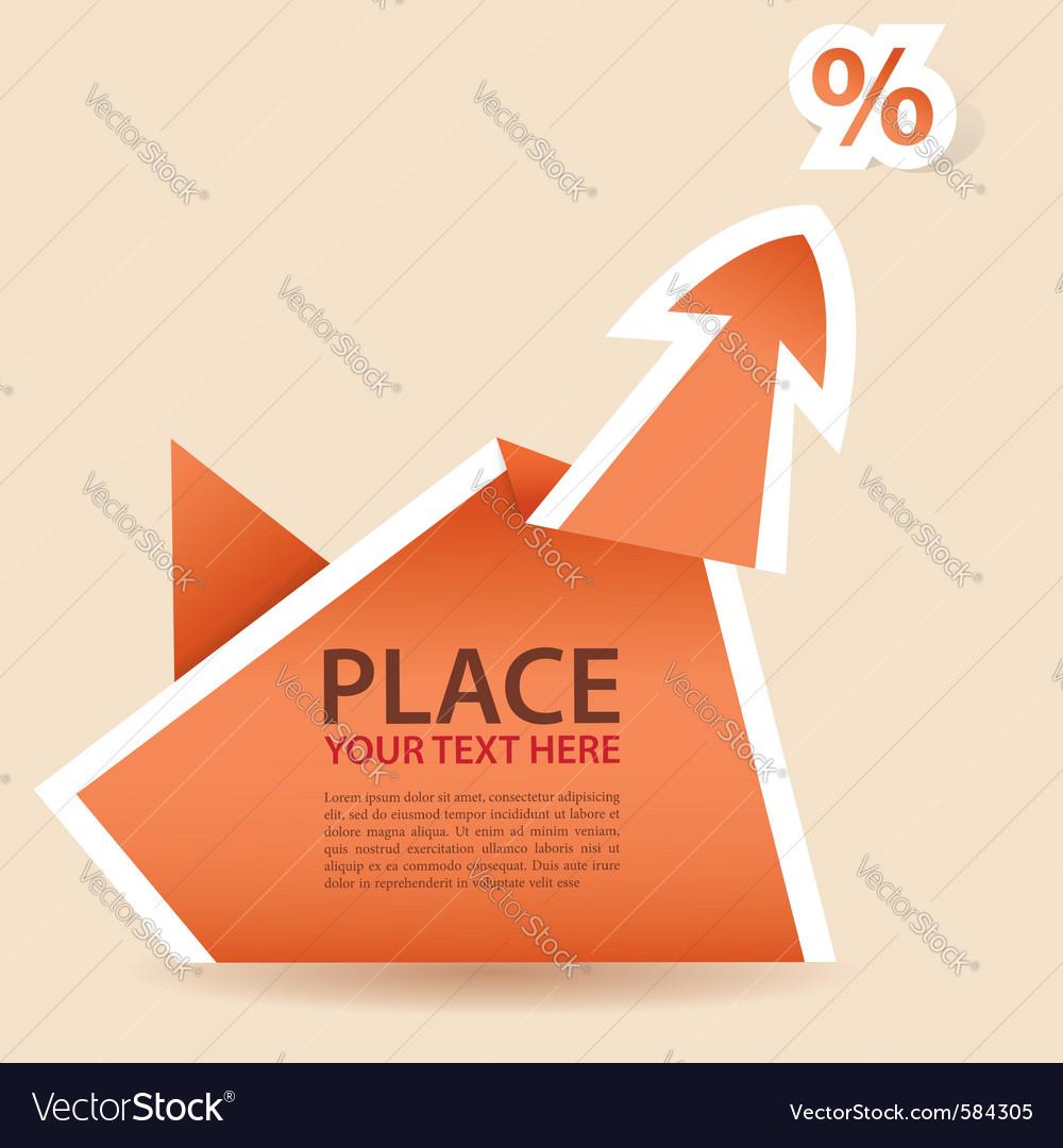 Paper origami arrow element