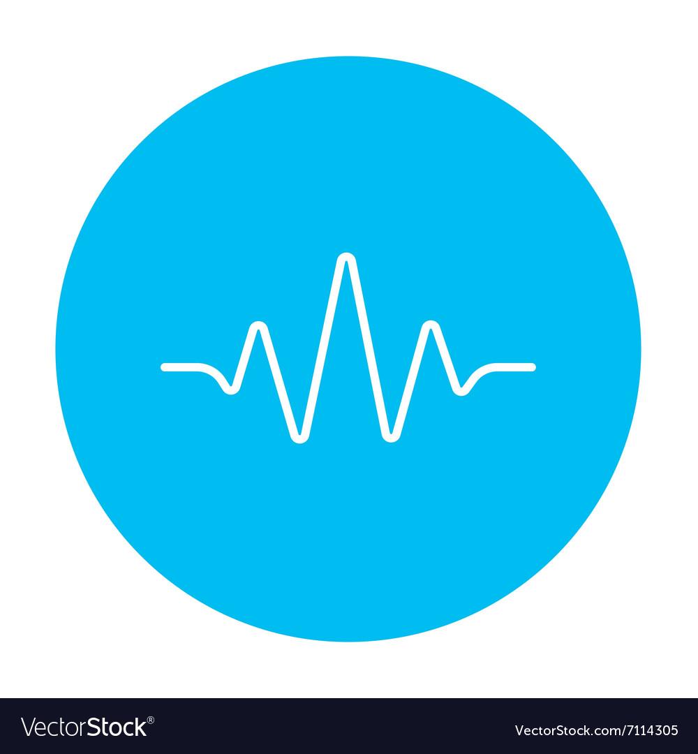 Sound wave line icon vector image