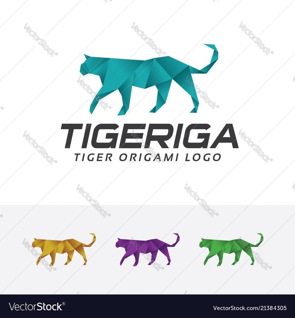 Tiger origami logo