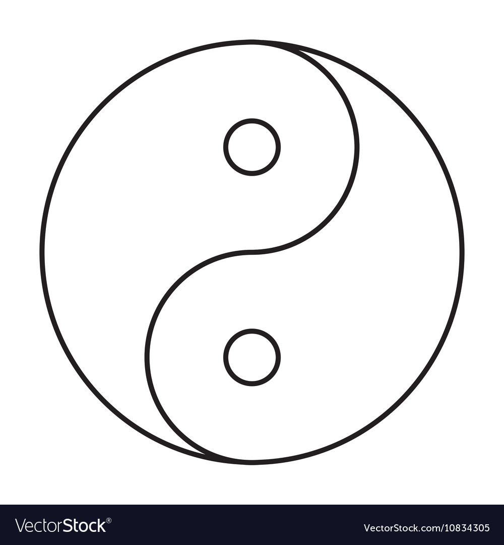 yin yang symbol black outline royalty free vector image ying yang free vector logo yin yang logo free vector