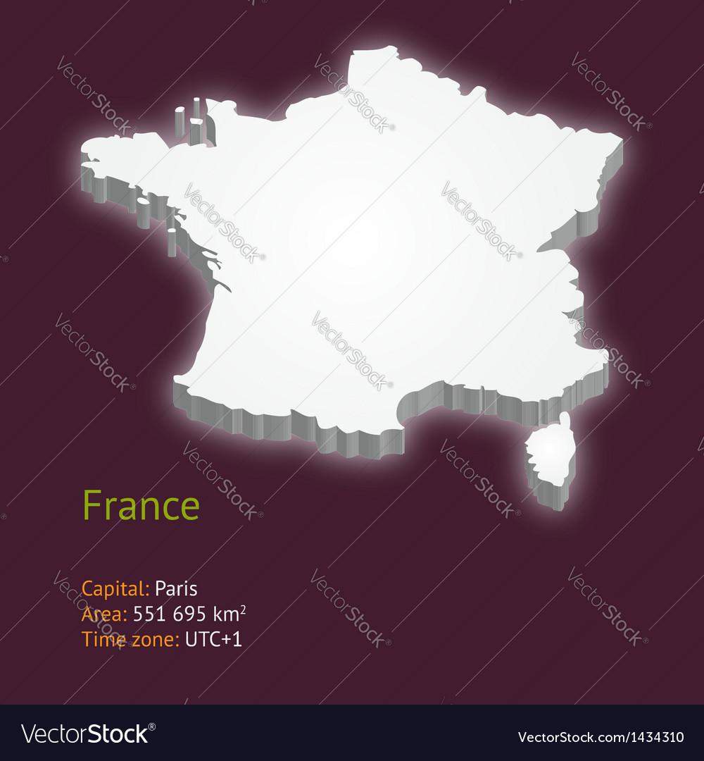 3d map of metropolitan france