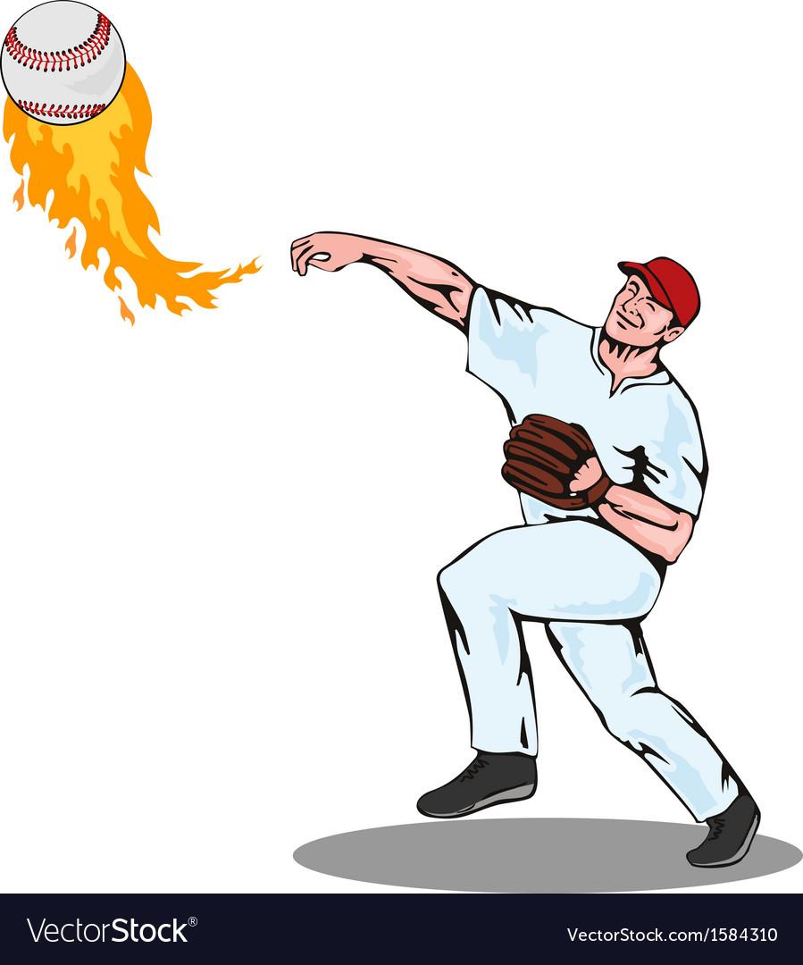 American Baseball Player Pitcher