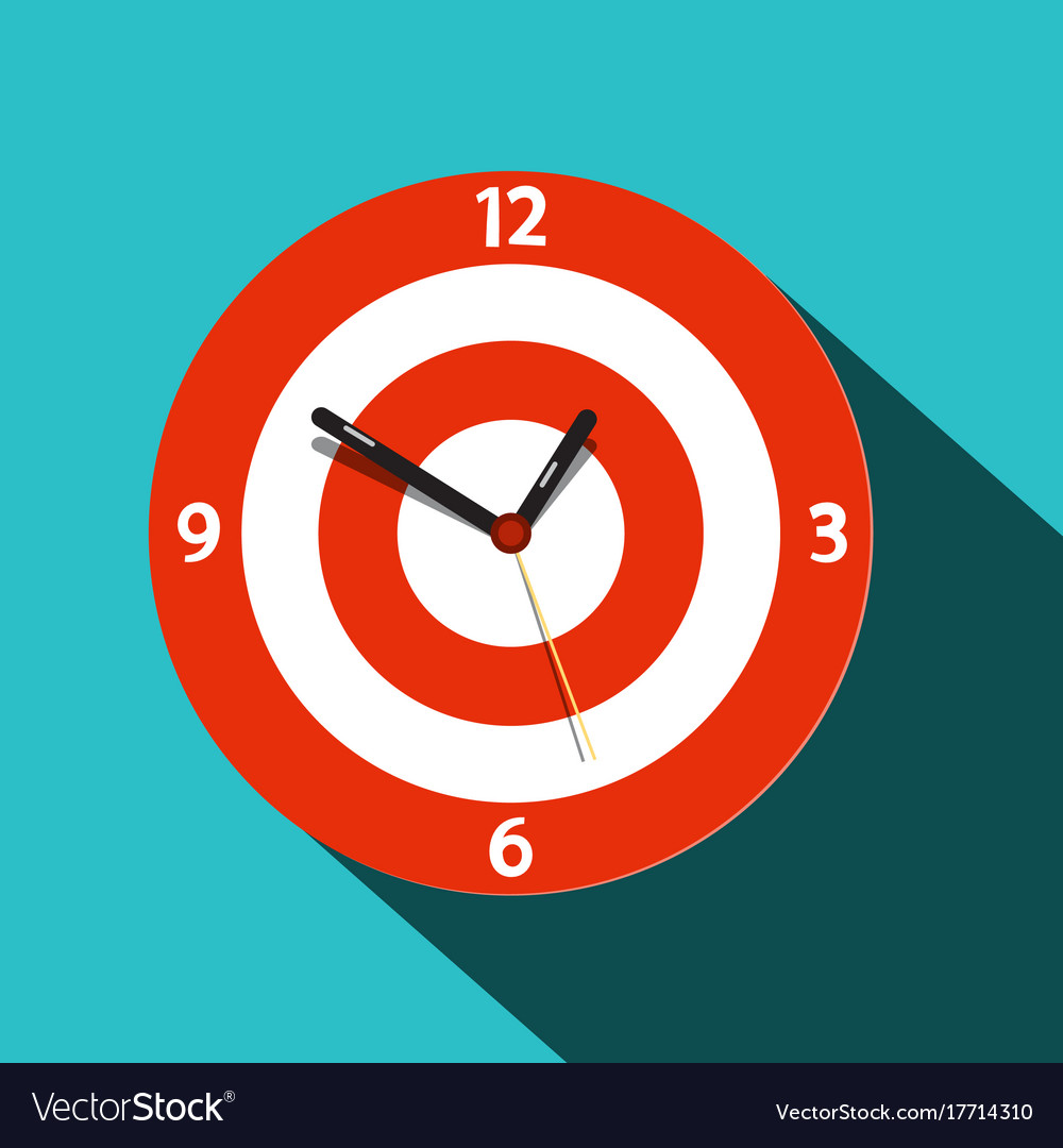 Clock icon flat design time symbol
