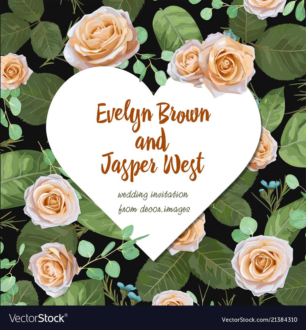Floral wedding invitation elegant invite card