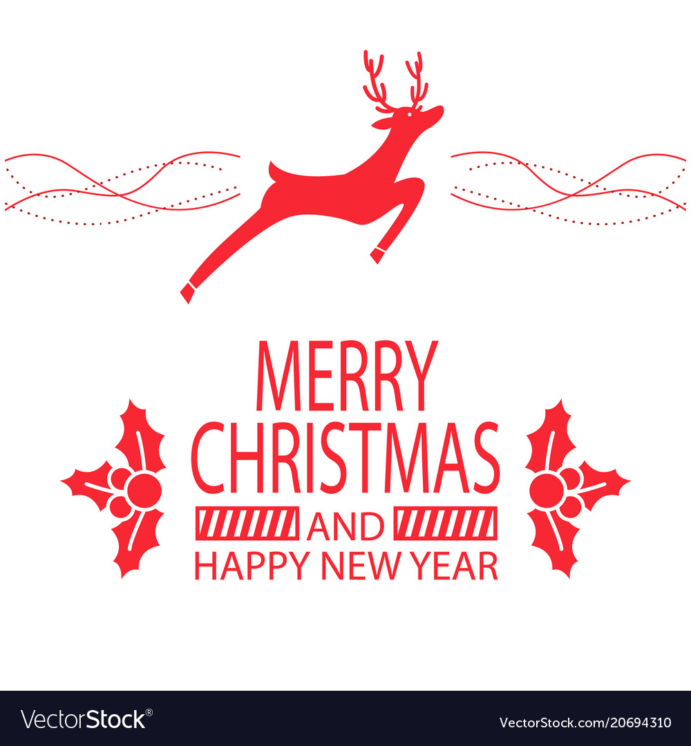 Merry christmas and happy new year festive poster