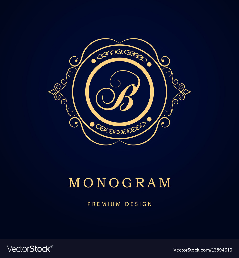 Monogram design elements graceful template