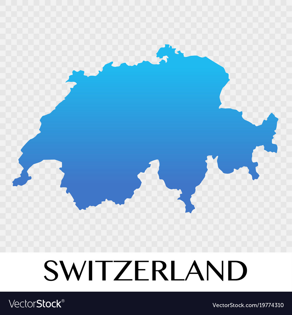 switzerland map in europe continent design vector image
