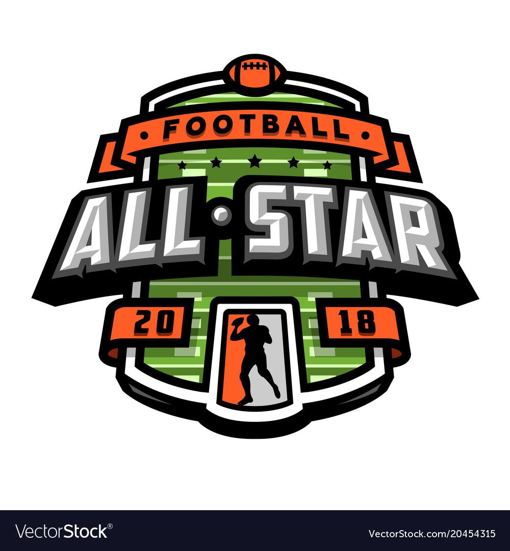 All stars of football logo emblem