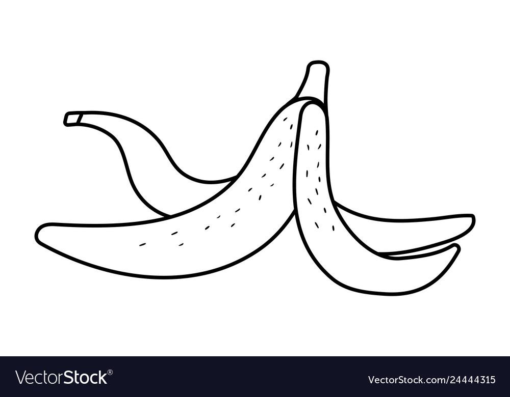 Banana peel cartoon