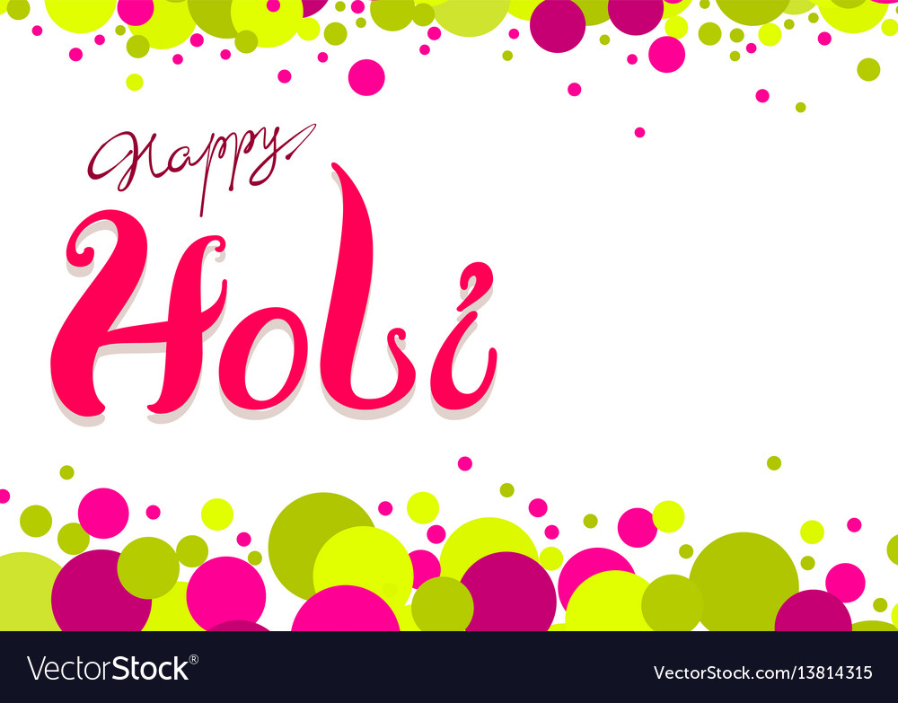 Happy holi greeting card colored confetti and vector image m4hsunfo